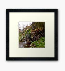 Ireland - Blarney Garden Waterfall Framed Print