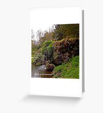Ireland - Blarney Garden Waterfall Greeting Card