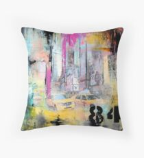 New York Times Square and Taxi Series #84 Throw Pillow
