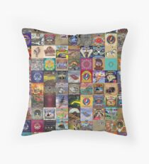 Grateful Dead Album Covers Throw Pillow