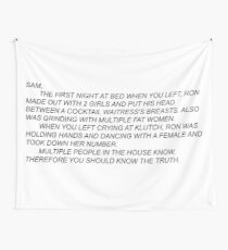 Anonymous Letter To Sammi  Wall Tapestry