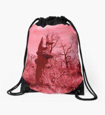 Red Tree Drawstring Bag
