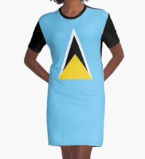 St Lucia Nationalflagge T-Shirt Kleid