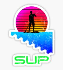 Retro Stand Up Paddle Boarding SUP Sticker
