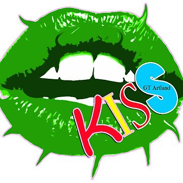 Green Slime Kiss Lips by GTARTLAND
