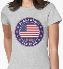 Plantation, Florida Women's Fitted T-Shirt