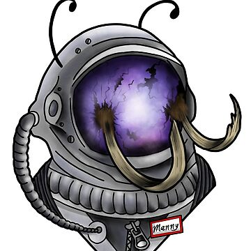 Mammoth space man by Prettayboyart