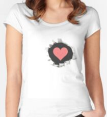 <3 Women's Fitted Scoop T-Shirt