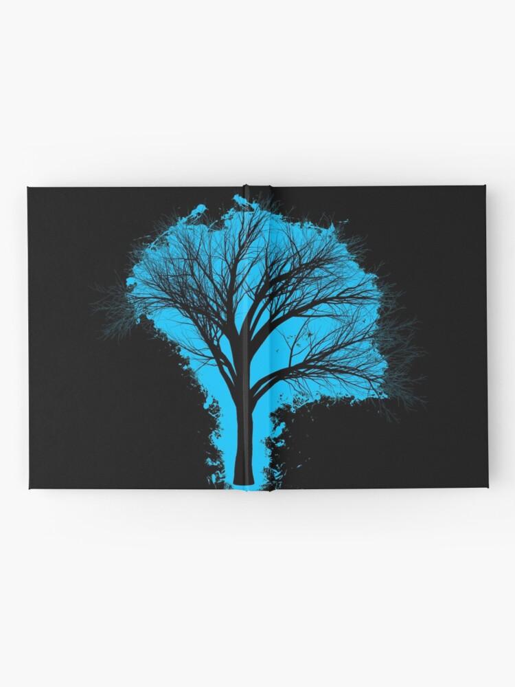 Vista alternativa de Cuaderno de tapa dura Tree branch lightblue and black silhouette