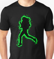 Silhouette fit green and black silhouette Unisex T-Shirt