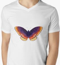 Cosmic Cloud Butterfly V-Neck T-Shirt