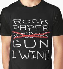 Rock Paper Scissors Gun Graphic T-Shirt