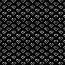 Black and White Diamond Pattern by lisabdesign