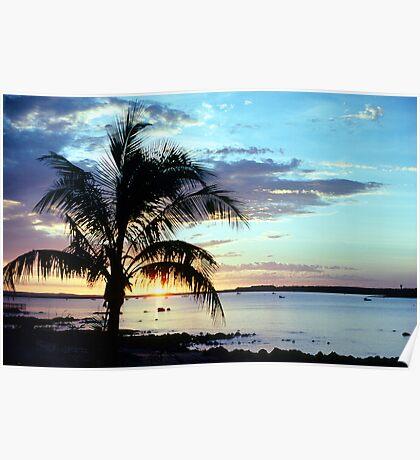 Dampier Sunset Poster