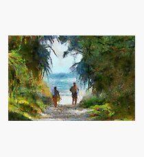 Beach lane, aorbdigitalmanipulation, summer, Photographic Print