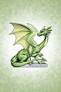 Birthstone Dragon: August Peridot Illustration by Stephanie Smith