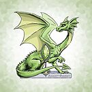 Birthstone Dragon: August Peridot Illustration by Stephanie Smith