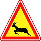 South Korean Traffic sign (Wild Animals crossing) by AsiaHwy