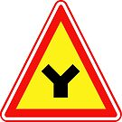 South Korean Traffic sign (Y-shaped intersection) by AsiaHwy
