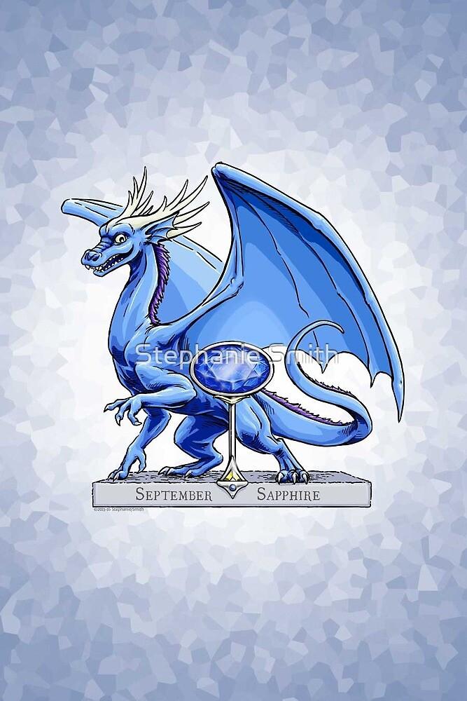 Birthstone Dragon: September Sapphire Illustration by Stephanie Smith