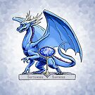 Birthstone Dragon: September Sapphire Illustration by Stephanie Smith