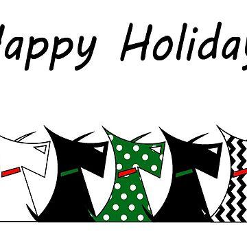 Scottie Dogs 'Happy Holidays' by archyscottie
