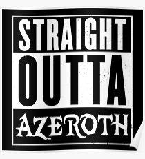 Geradeaus Azeroth Poster