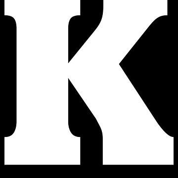 Letter K - Alphabet Spell Spelling Capital Initial  by BullQuacky