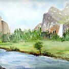 Bridal Veil Falls - Yosemite by Diane Hall