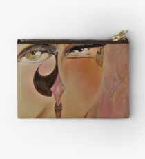 MUTED DECO OP ART FLAPPERS PRINT Studio Pouch
