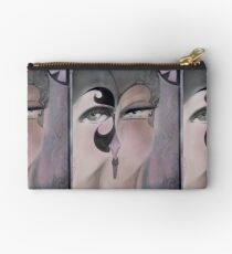 MUTED OP ART DECO FLAPPERS GREY PASTEL TINT Studio Pouch