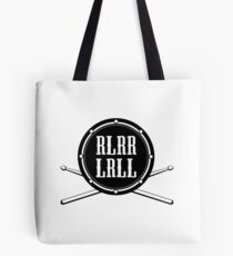 RLRR LRLL Paradiddle with Drum Tote Bag