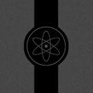 Atom black and grey logo by Anteia
