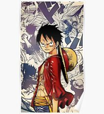 Luffy Collage Poster
