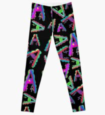 THE LETTER A - 2018- 40 DAY CHALLENGE - HAND DRAWN - GRAHIC ALPHABET  Leggings