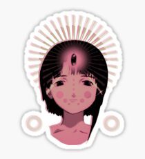 Lain God of the Wired Sticker
