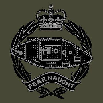 Royal Tank Regiment (black) - British Army by wordwidesymbols