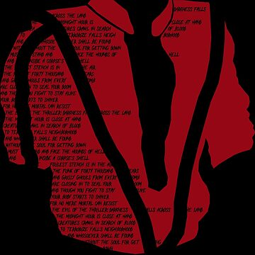 Michael Jackson - Thriller Lyrics Illustration by RobbeRNL