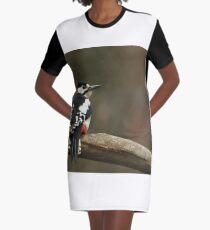 Vestido camiseta Gran carpintero manchado Dendrocopos major