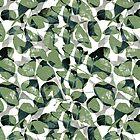 Peacock color leaf pattern 2 by hutofdesigns