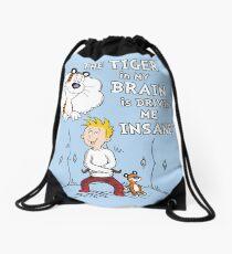 The Tiger in My Brain Drawstring Bag