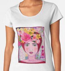 Dreamer Whimsical Portrait Women's Premium T-Shirt