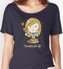Pfannkuchen-Omelett-Feinschmecker-Lebensmittelsüchtiger Baggyfit T-Shirt