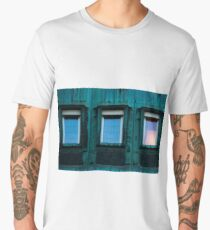 old windows in Berlin Men's Premium T-Shirt