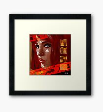 A digital painting for the movie fifth element  Framed Print