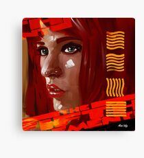 A digital painting for the movie fifth element  Canvas Print