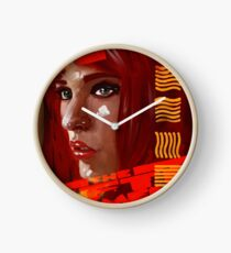 A digital painting for the movie fifth element  Clock