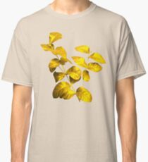 Golden leaf with stem Classic T-Shirt