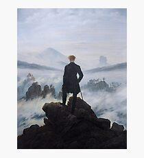 Wanderer above the Sea of Fog - Caspar David Friedrich Photographic Print