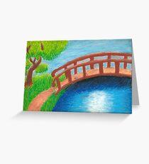 A bridge over a river Greeting Card